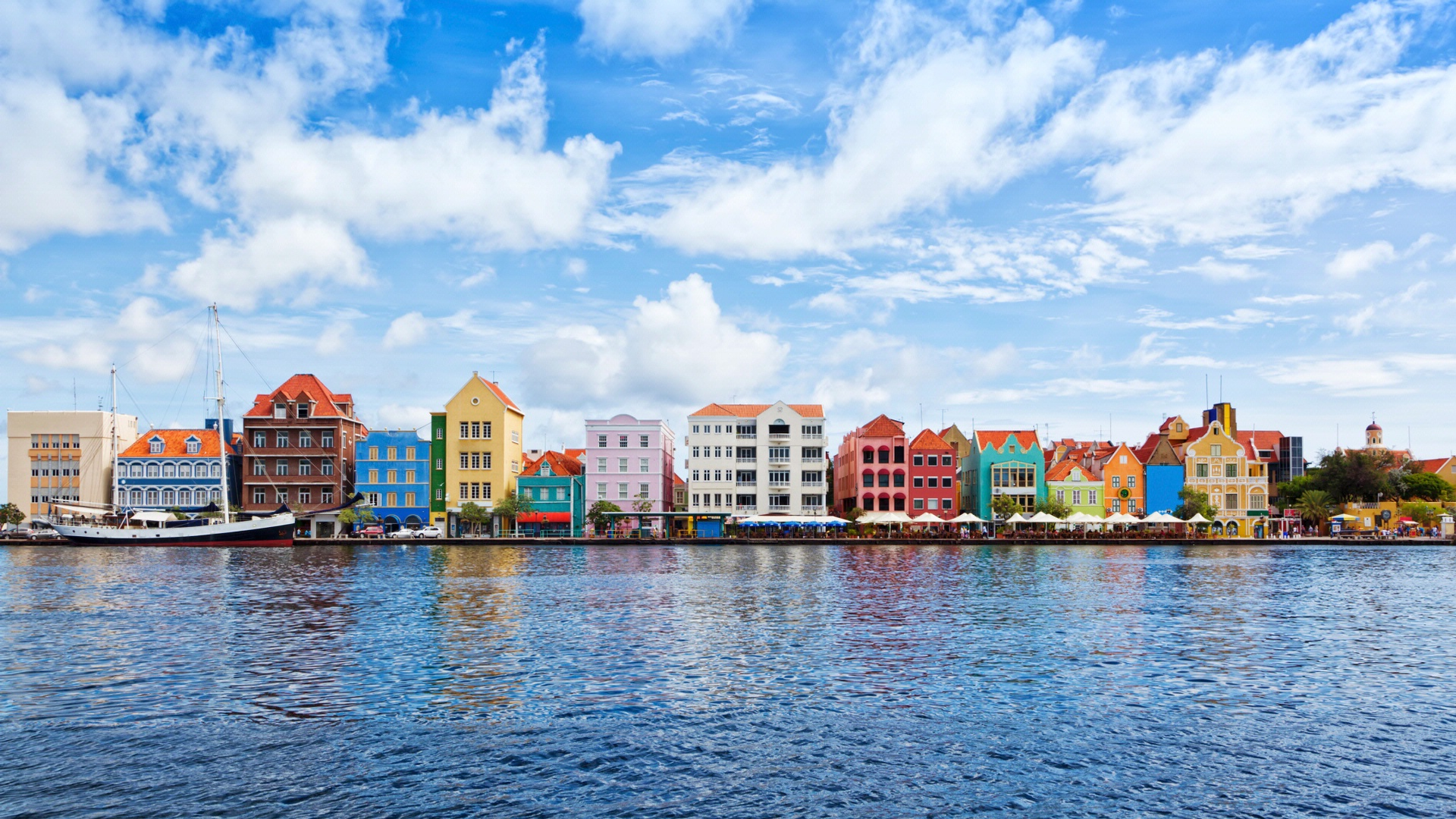 Row of colorful buildings in Willemstad