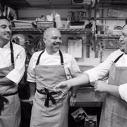 Bobby Madley & The Cooking Team At Willows Lodge in Woodinville