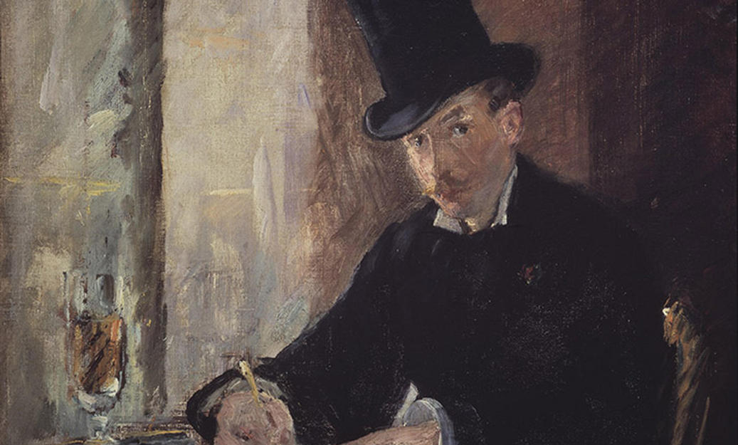 painting of a man in a top hat