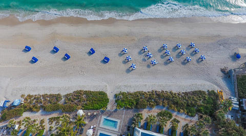 Overhead perspective of beach